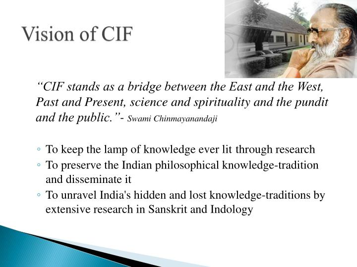 Vision of cif