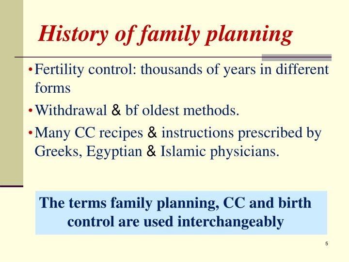 History of family planning