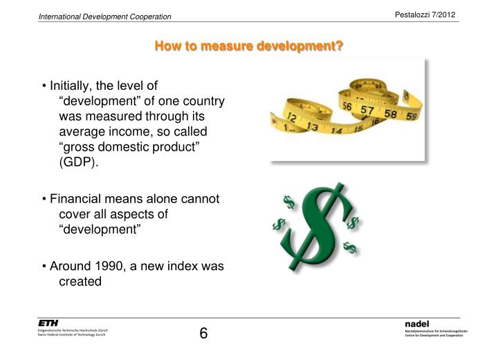 How to measure development?