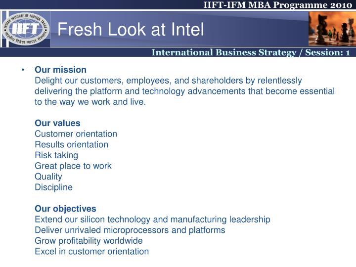 Fresh Look at Intel