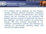 microsoft values