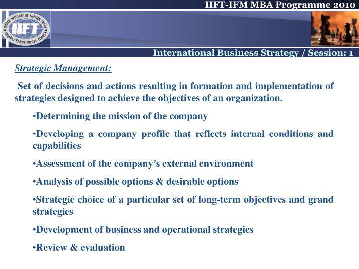 Strategic Management: