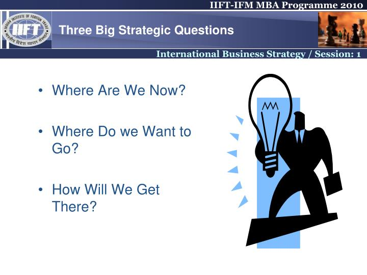 Three Big Strategic Questions