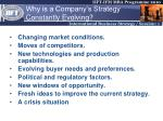 why is a company s strategy constantly evolving