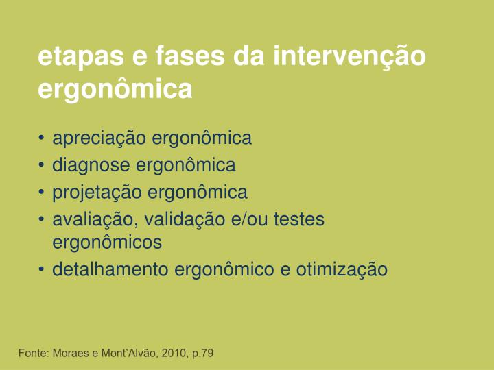 etapas e fases da intervenção ergonômica