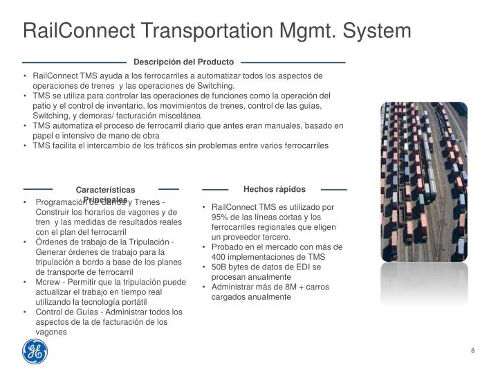 RailConnect Transportation Mgmt. System