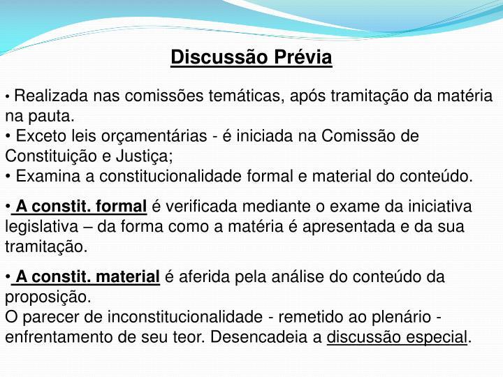 Discussão Prévia