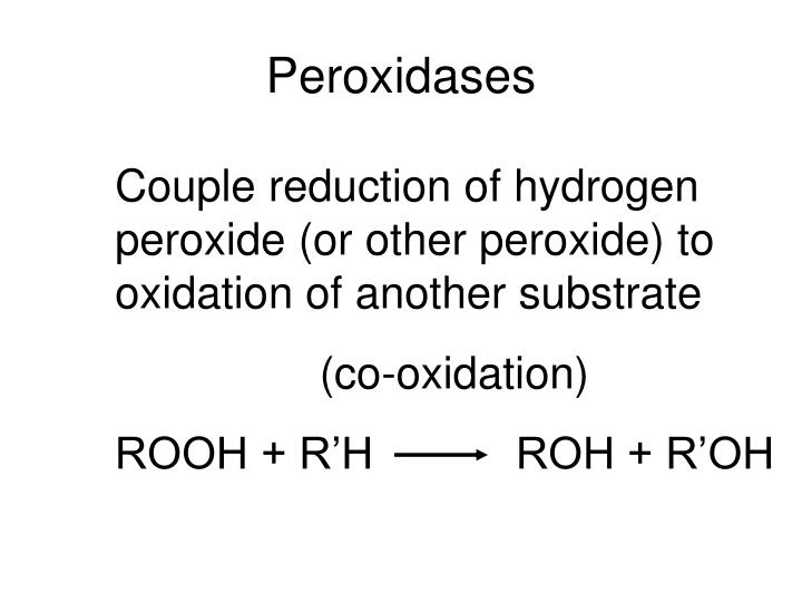 Peroxidases