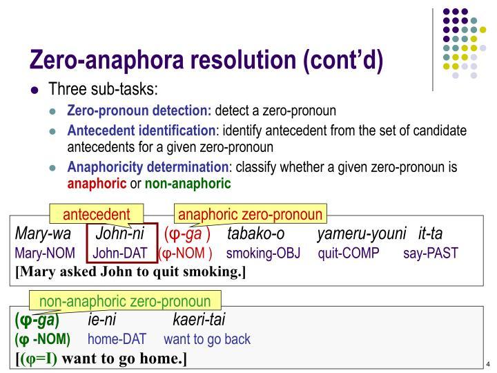 non-anaphoric zero-pronoun