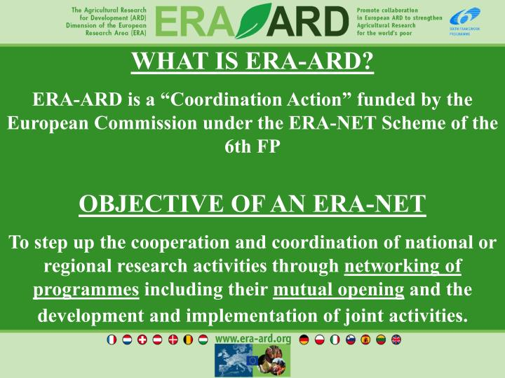 WHAT IS ERA-ARD?