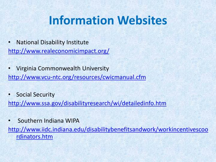 Information Websites