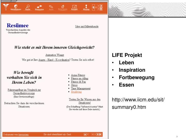 LIFE Projekt