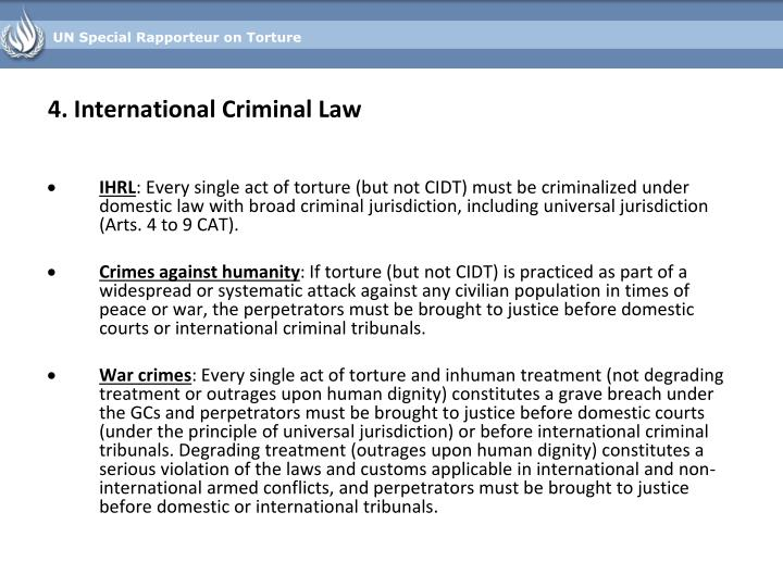 4. International Criminal Law