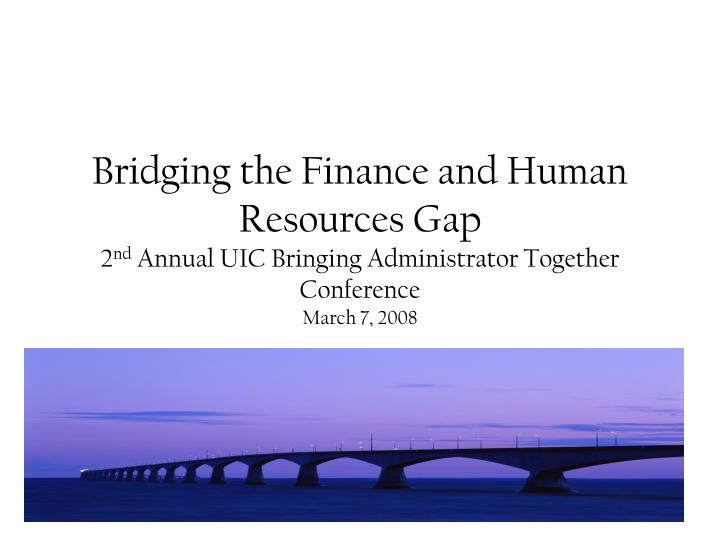 Bridging the Finance and Human Resources Gap