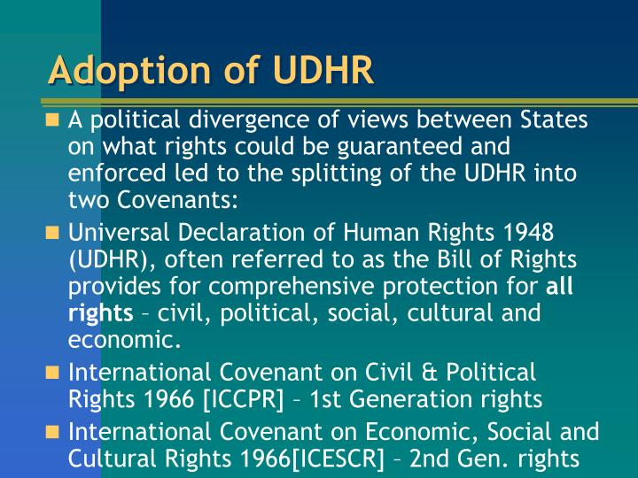 Adoption of UDHR
