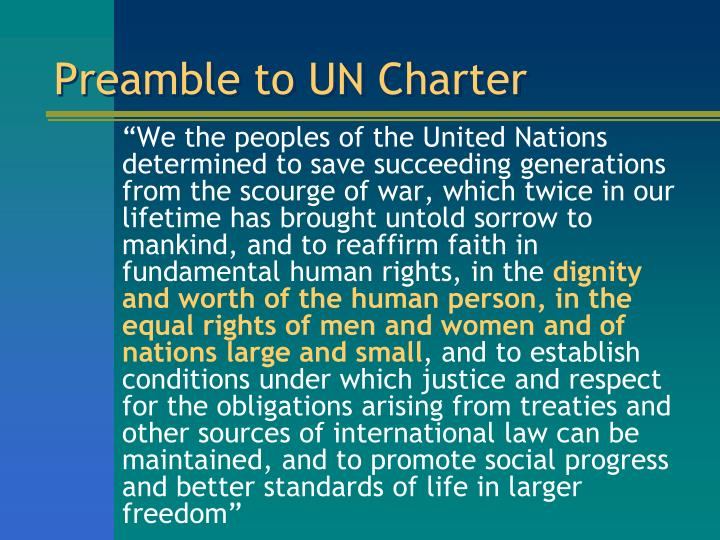 Preamble to un charter