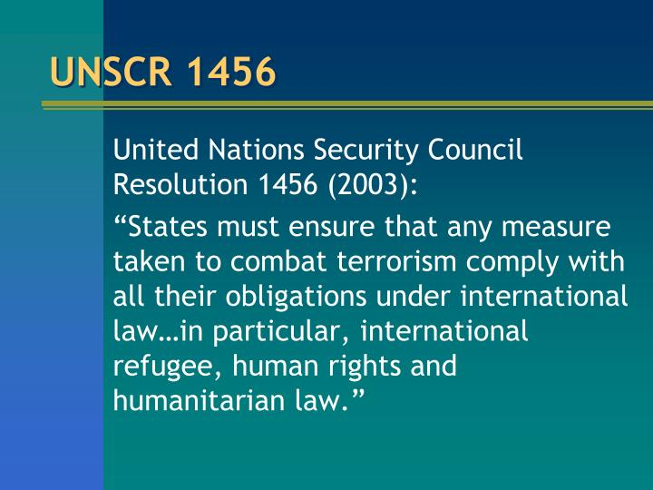 UNSCR 1456
