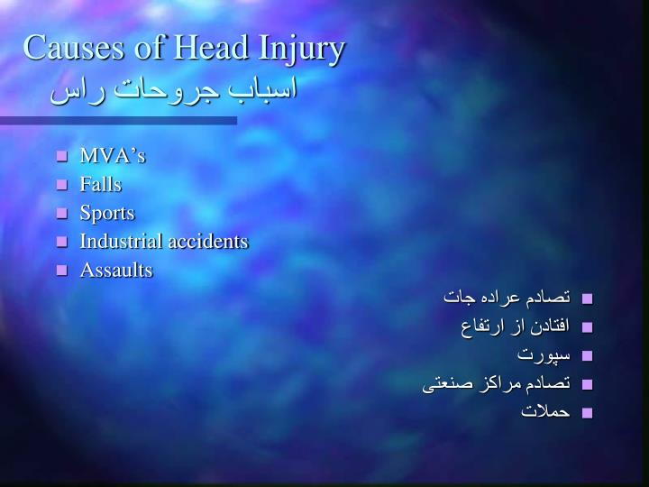 Causes of Head Injury