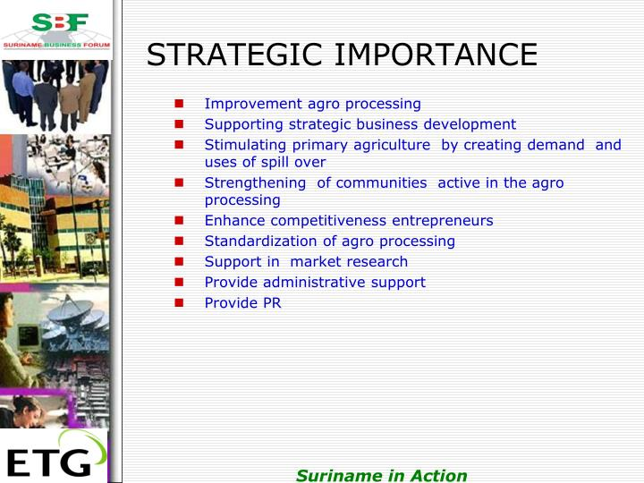 STRATEGIC IMPORTANCE