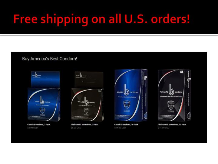 Free shipping on all U.S. orders!