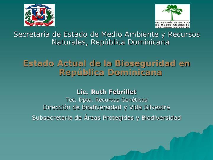Secretaría de Estado de Medio Ambiente y Recursos Naturales, República Dominicana