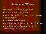provisional officers