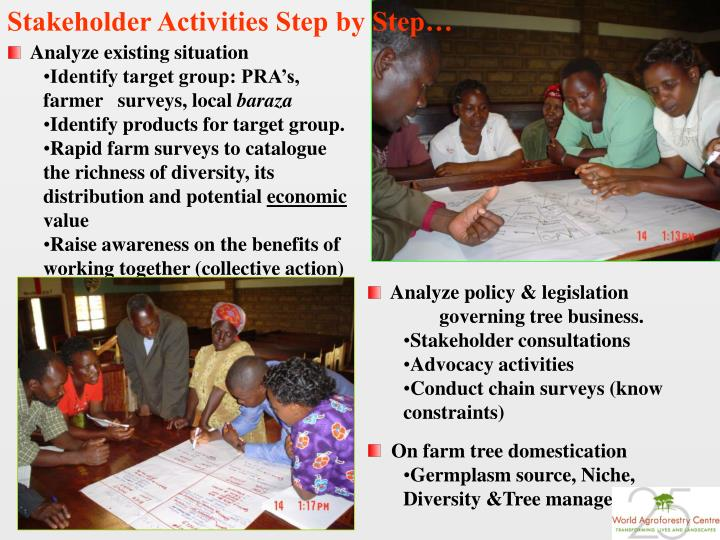 Stakeholder Activities Step by Step…