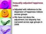 inequality adjusted happiness index