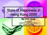 state of happiness in hong kong 2006
