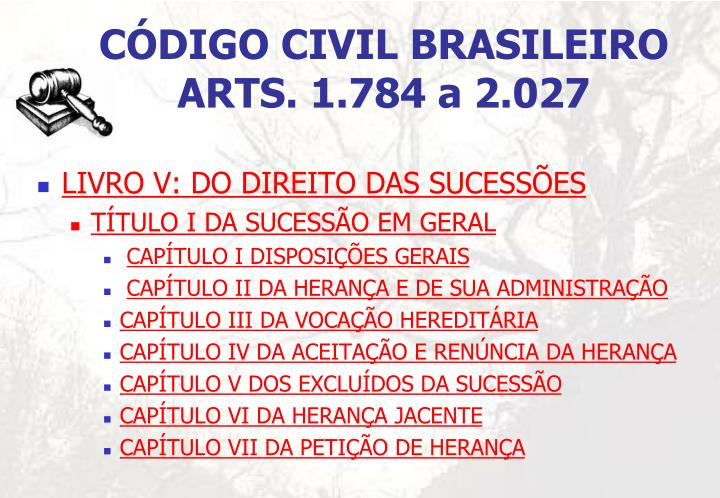 CÓDIGO CIVIL BRASILEIRO