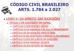 c digo civil brasileiro arts 1 784 a 2 027