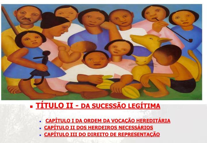 TÍTULO II -