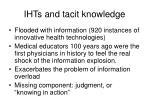 ihts and tacit knowledge