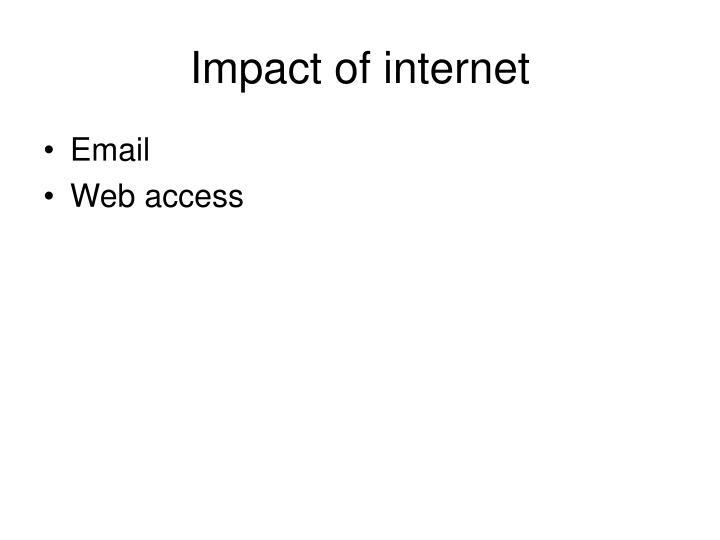 Impact of internet