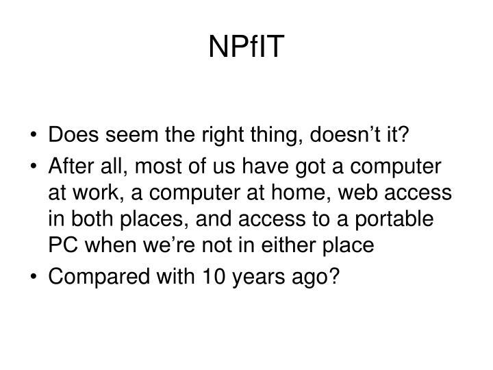 NPfIT