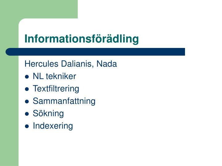 Informationsförädling