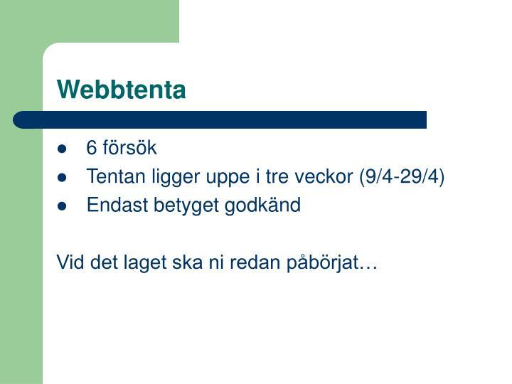 Webbtenta