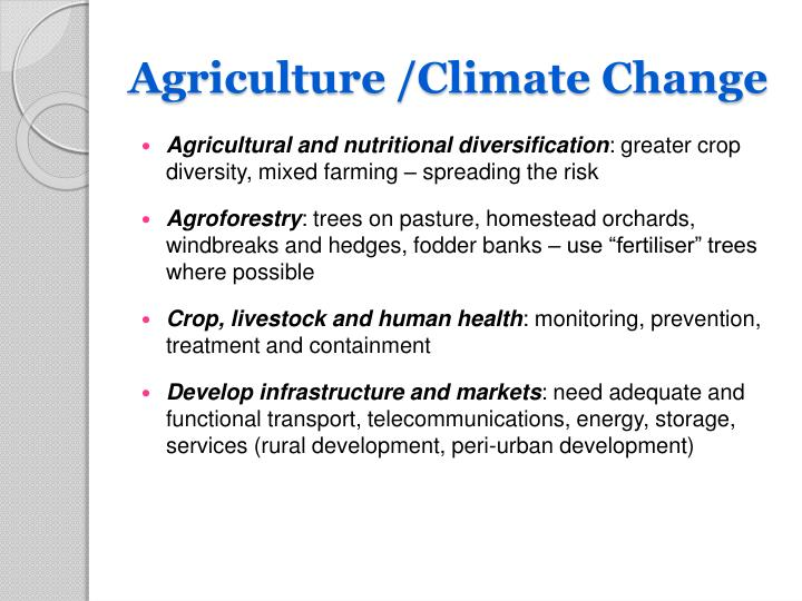 Agriculture /Climate Change