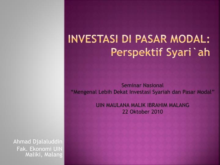 makalah pasar modal indonesia Apakah anda mengetahui kasus kejahatan pasar modal yang merugikan investor apa saja yang harus investor lakukan agar terhindar kejahatan pasar modal.