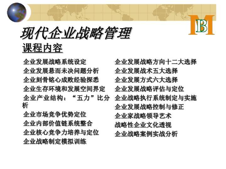 企业发展战略系统设定