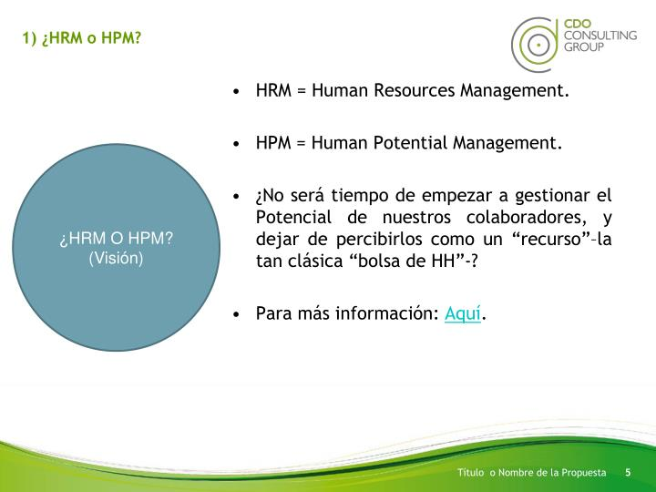 1) ¿HRM o HPM?