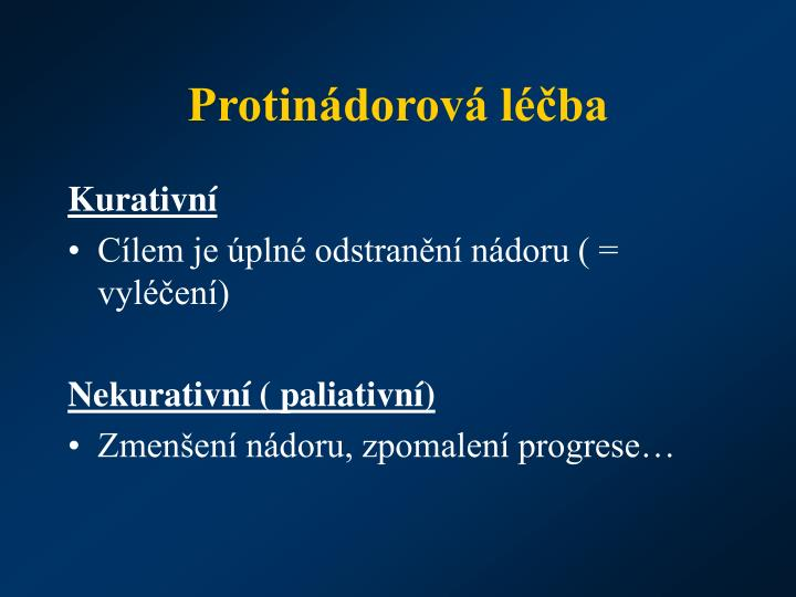 Protinádorová léčba