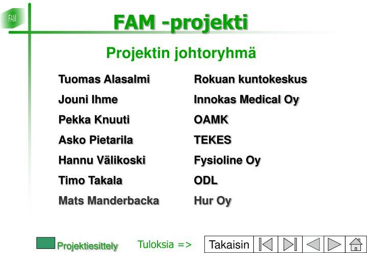 Projektin johtoryhmä