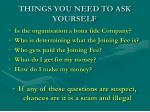 things you need to ask yourself