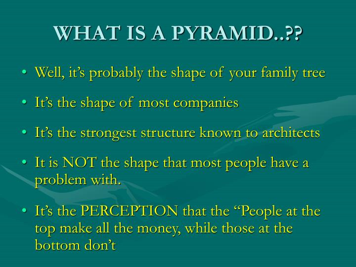 WHAT IS A PYRAMID..??