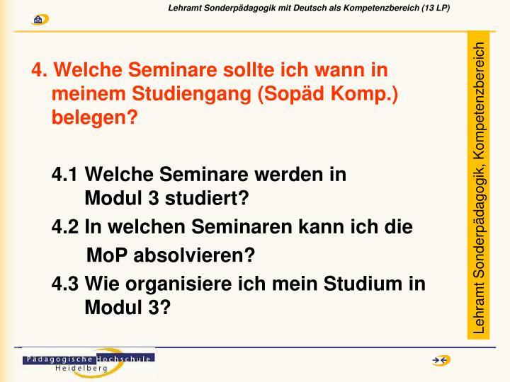 4. Welche Seminare sollte ich wann in meinem Studiengang (Sopäd Komp.) belegen?