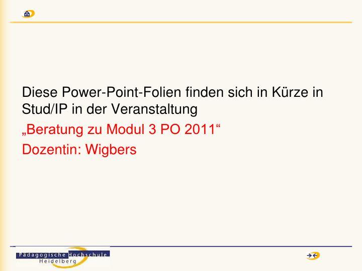 Diese Power-Point-Folien finden sich in Kürze in Stud/IP in der Veranstaltung