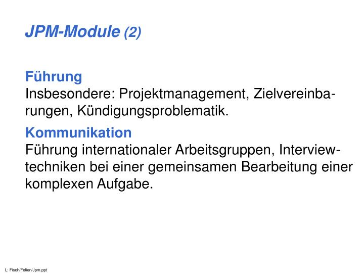JPM-Module