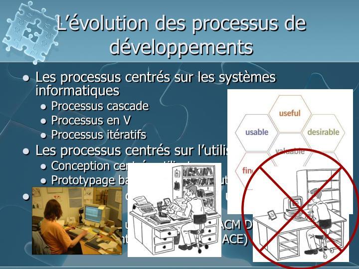 L'évolution des processus de développements
