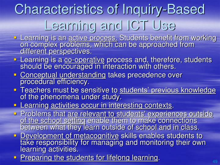 Characteristics of Inquiry-Based